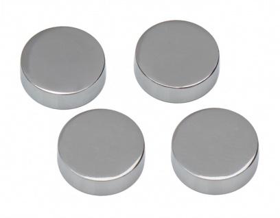 4x Chrom Spiegelhalter Spiegelbefestigung Spiegelklammern Halter