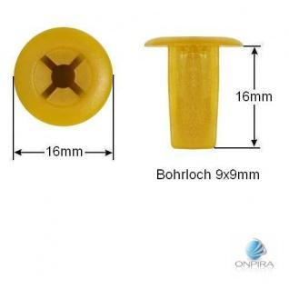 30x Clip Clips Clipse Kunststoff Spreizmutter Türverkleidung KFZ Universal 103