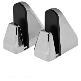 2x Große DESIGN Chrom Aluminium Regalhalter Regalträger Regal Alu