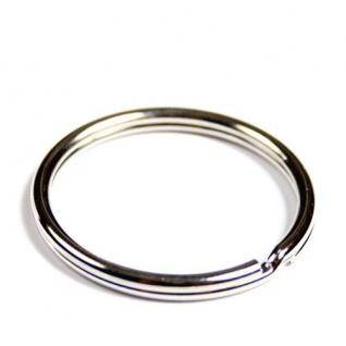100 Schlüsselringe Außen Ø 32mm / Innen Ø 28mm Gehärteter Stahl Schlüsselring