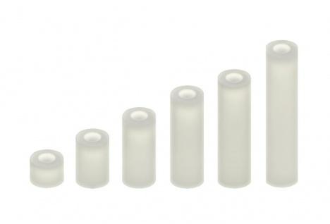 100 Abstandshalter M3 Distanzhülsen Distanz-Hülsen Kunststoff Nylon Distanzhülse