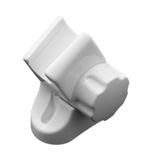 Duschkopf Halter Modell Yara Weiß für Wandmontage Brause beweglich Halterung