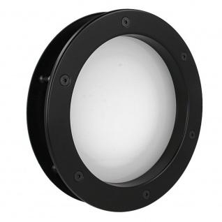 MLS Bullauge B4000 A8 Rundfenster Aluminium schwarz matt Ø 40 cm Glas matt 01... - Vorschau 4