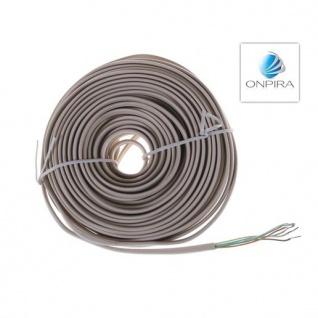 15m 6x 0, 22 mm² Flachkabel Kabel Modellbau Video Türsprechanlage - Vorschau