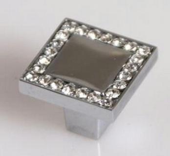 Exklusive Möbelgriffe Chrom mit Strass Kristall