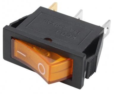 5x Wippschalter Schalter Orange 1x EIN mit Beleuchtung 11x30mm 250V 15A