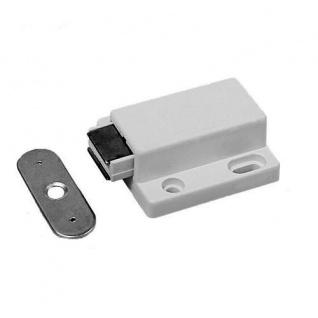 10x Magnetschnapper Druckmagnetschnäpper Weiß Möbelmagnet Türmagnet Möbel Magnet