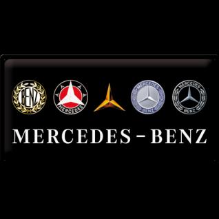 Blechschild 25x50 Mercedes Benz Logo Evolution