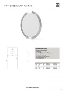 MLS Bullauge B5000 Rundfenster Edelstahl gebürstet Ø 25 cm Glas matt 0180-0190 - Vorschau 3