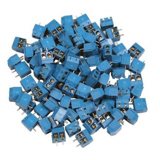 Printklemmen 100 Stück 2 polige Anschlussklemmen Leiterplattenklemme Klemmenb...