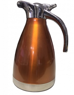 Edelstahl Optik Kaffeekanne Orange 1, 5l Teekanne unisoliert Getränk