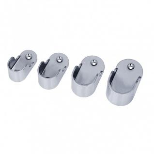 2x Rohr Wandhalter Ovalrohr Halter Kleiderstange Stangenhalter Garderobe 1-14