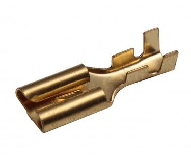 100 Flachsteckhülsen 7, 8mm 1, 5 - 2, 5 mm² Kabelschuh unisoliert mit Rasternase