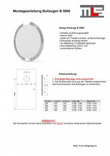 MLS Bullauge B5000 Rundfenster Edelstahl gebürstet Ø 25 cm Glas klar 0180-0180 - Vorschau 3