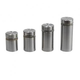 GLASHALTER 55x32mm FLACH ROHR EDELSTAHL-OPTIK Glasklemme