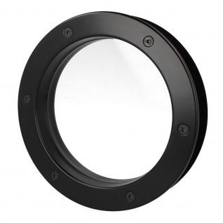 MLS Bullauge B4000 A8 Rundfenster Aluminium schwarz matt Ø 30 cm Glas klar 01... - Vorschau 5
