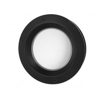 MLS Bullauge B6000 A8 Rundfenster Aluminium schwarz matt Ø 40 cm Glas matt 01...