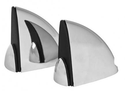 2x DESIGN Chrom Aluminium Regalhalter Regalträger Regal Alu