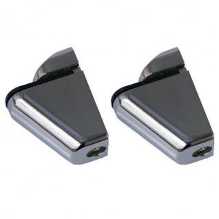 2x DESIGN Regalhalter Regalträger Regal Aluminium Alu Chrom
