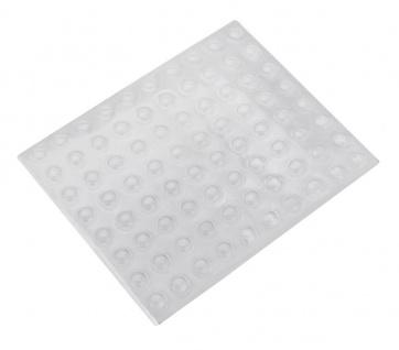 160 Geräte Füße Ø 8mm klar Transparent selbstklebend Gummifüße Gerätefüße Gummi