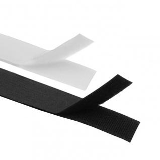 Klettband Selbstklebend Meterware Weiß / Schwarz
