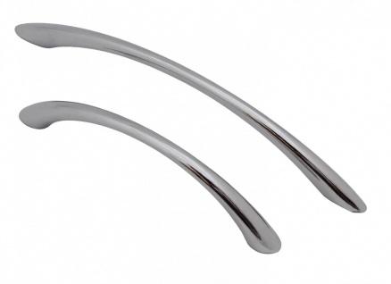 Bogengriff Chrom oder Edelstahl-Optik Möbelgriffe Möbelgriff Bügelgriff Griff