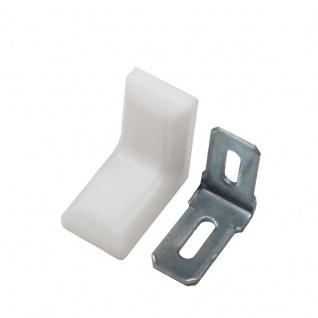 10x Stuhlwinkel 30x30x18mm mit Kunststoff Abdeckung Möbel Winkel Flachwinkel