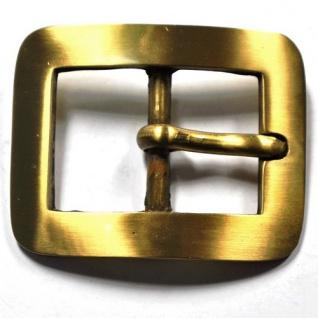 Gürtel Schnalle Schließe Messing für 30 mm Riemen Buckle Ledergurt (16A)