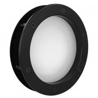 MLS Bullauge B4000 A8 Rundfenster Aluminium schwarz matt Ø 35 cm Glas matt 01...
