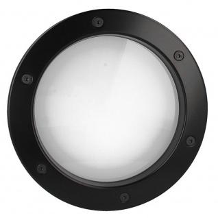 MLS Bullauge B4000 A8 Rundfenster Aluminium schwarz matt Ø 25 cm Glas matt 01... - Vorschau 4