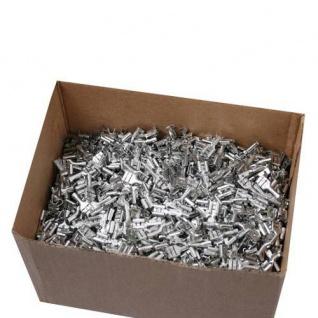 1000 Flachsteckhülsen 6, 3mm 1, 5 - 2, 5 mm² Kabelschuh unisoliert ohne Rasternase