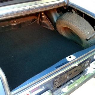 Mercedes W108 W109 Kofferraummatte Schlinge schwarz Keder Stoff