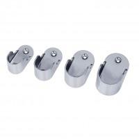 2x Rohr Wandhalter Ovalrohr Halter Kleiderstange Stangenhalter Garderobe 1-14 - Vorschau 3