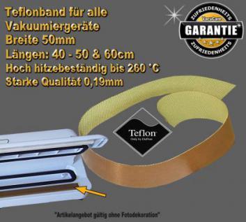 Hochwertiges Teflonband 50 x 5cm (L/B) extrem hitzebeständig, stark klebend, Selbstzuschnitt für ALLE Vakuumierer Vakuumiergeraete Folienschweißer