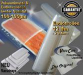 Endlosrollen - Folienrollen goffriert 12 lfm x 25cm (L/B) Strukturbeutel Vakuumtuete Vakuumfolie für alle Vakuumierer Vakuumiergeräte