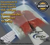 Testpaket 15-teilig Vakuumbeutel goffriert, Strukturbeutel Vakuumtuete Vakuumfolie für ALLE Vakuumierer Vakuumiergeräte