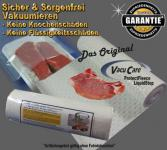 VacuCare ProtectFleece 10 lfm Breite 30cm Knochenschutz - Flüssigkeitsstop, für ALLE Vakuumgeräte z.B. Foodsaver LA.VA Lava Solis Genius Gastroback etc.