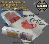 VacuCare ProtectFleece 20 lfm Breite 30cm Knochenschutz - Flüssigkeitsstop, für ALLE Vakuumgeräte z.B. Foodsaver, LA.VA, Solis, Genius, Gastroback etc.