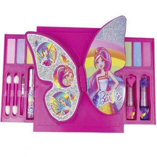 Kinder Make-Up Kit Barbie - Schmetterling - Schmink Set mit Spiegel #52002