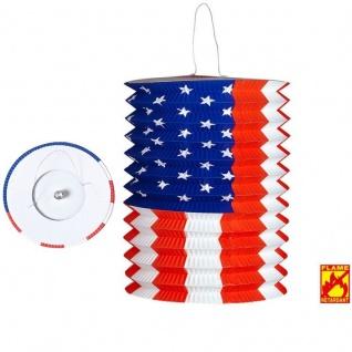 ZUGLATERNE USA Ø 16 cm flammsicher - Lampion - Laterne - Länder Party Deko