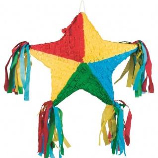 PINATA - Stern - 51x56cm zum befüllen Kinder Geburtstag Party Spiel