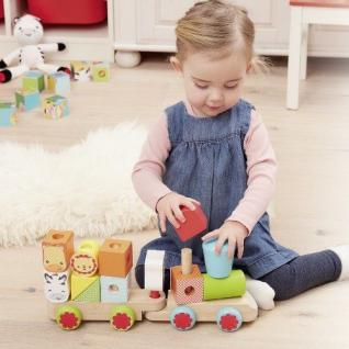 Fisher Price HOLZ EISENBAHN Anhänger bunten Bauklötze Kinder Spielzeug #1217