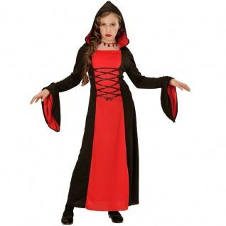 Halloween Kinder Kostüm Gr. 158 GOTHIC LADY Hexe Vampirin Mittelalter Kleid