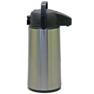Airpot 1, 9 L Edelstahl Kaffeekanne Pumpkanne rostfrei Isolierkanne Glaseinsatz