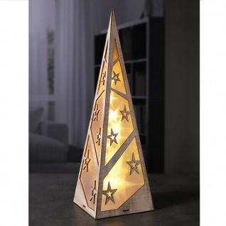 LED Pyramide 45 cm Sterne Effekt Weihnachtsbeleuchtung Weihnachten Lichterkette