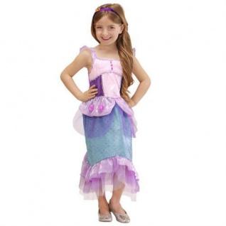 NIXE MEERJUNGFRAU Kinder Kostüm pink/grün Größe 116 4-5 Jahre
