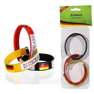 3er Set Armband Deutschland Fan Artikel Dekoration Party WM+EM Auswahl #95945