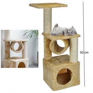 Kratzbaum Katzenkratzbaum für Katzen Katzenbaum Sisal Kletterbaum beige #4905