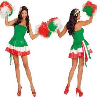 MISS ITALIEN Damen Kostüm Gr. M 38/40 Fan Kostüm Cheerleader Karneval 6012