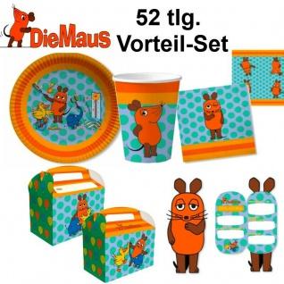 DIE SENDUNG MIT DER MAUS Kinder Geburtstag Party Deko 52tlg Vorteil Set - Teller